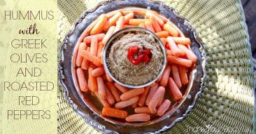 Recipe: Hummus with Greek Olives and Roasted Red Peppers