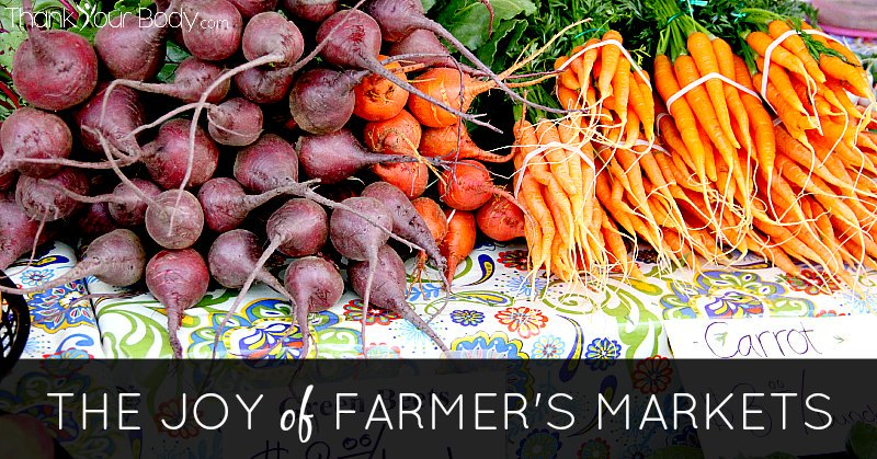 Get to know your local farmer's market! Farm fresh, organic produce grown in your own community.