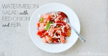 Recipe: Watermelon Salad with Red Onion and Feta