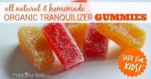 Homemade tranquilizer gummies for children. Finally! I can get some work done.
