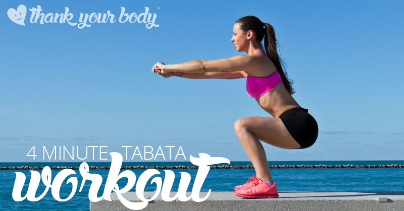 Wanting to get fit and lose weight quick? Check out this tabata style workout video. At 4 minutes long, what do you have to lose?