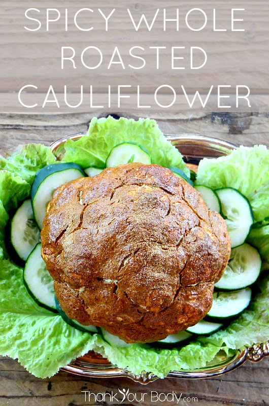 Cauliflower takes center stage when you make spicy whole roasted cauliflower. Delicious and fun!