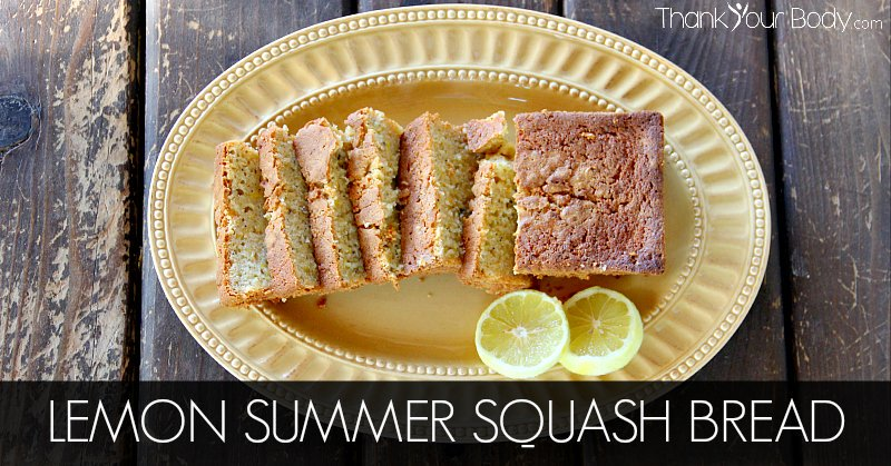 Summer squash, lemon zest, fresh yogurt...just a few of the healthy ingredients in this delicious Lemon Summer Squash Bread