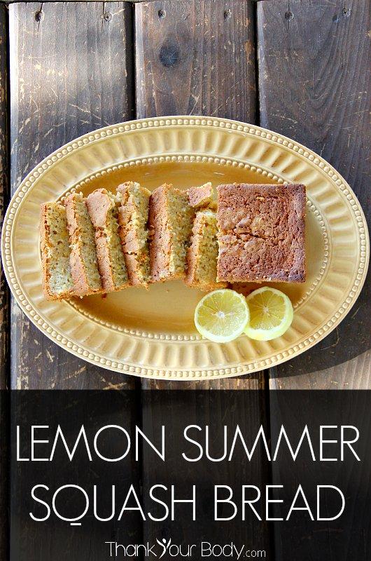 Summer squash, lemon zest, fresh yogurt...just a few of the healthy ingredients in this delicious Lemon Summer Squash Bread