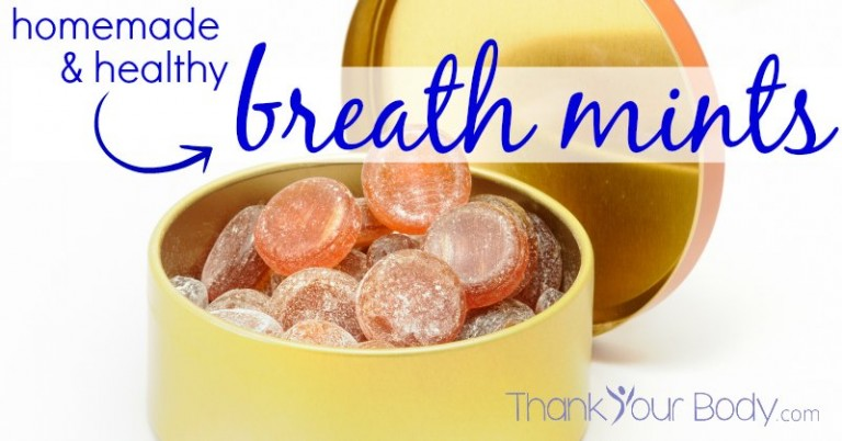 These homemade healthy breath mints are amazing and not full of toxic crap. Sounds good to me.