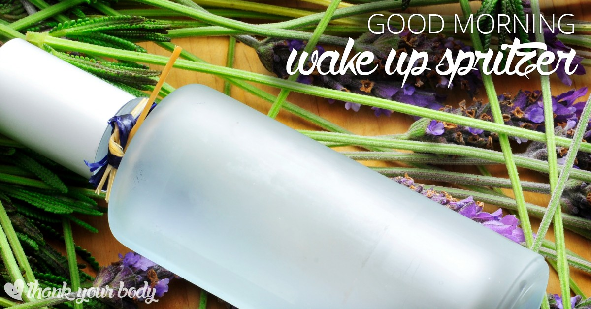 This good morning wake up spritzer is awesome! It's a simple way to help you wake up and take on the day with more energy.