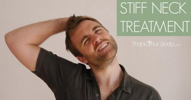 stiff neck treatment