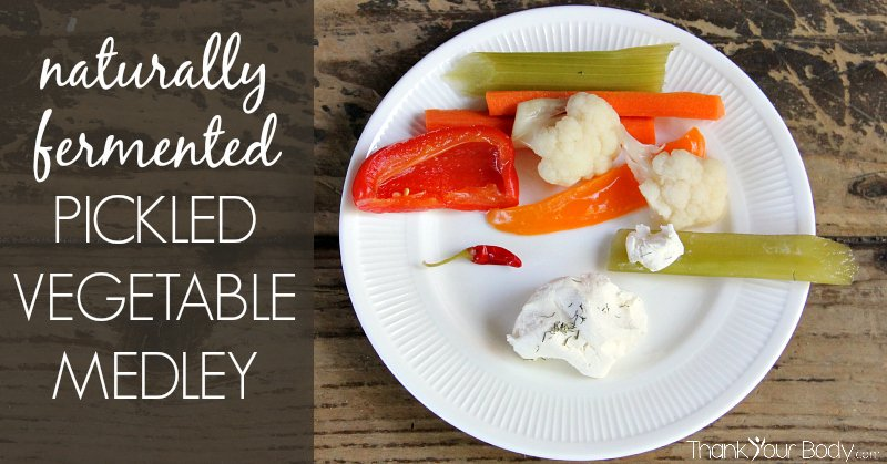 This naturally fermented pickled vegetable medley is easy to make, and so good for you!