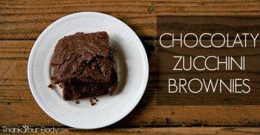 Recipe: Chocolaty Zucchini Brownies