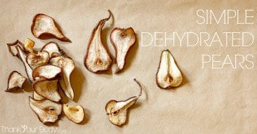 Recipe: Simple Dehydrated Pear Slices