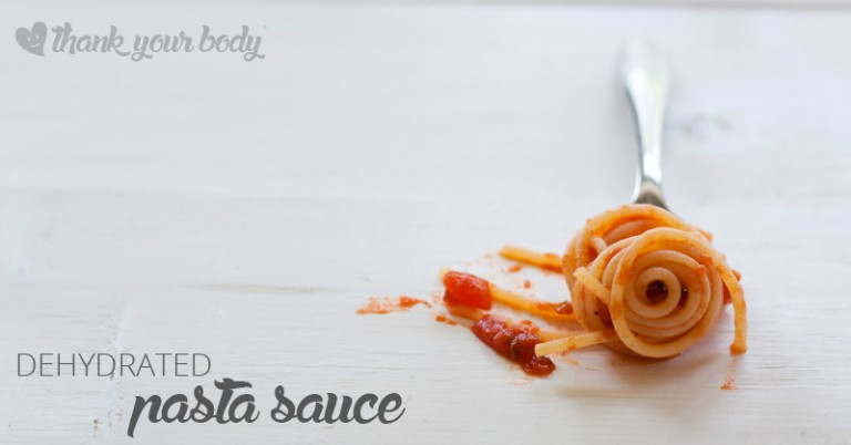 Pasta sauce! Nothing beats a good pasta sauce, especially made from scratch. Dehydrated pasta sauce saves time, money, and storage space!