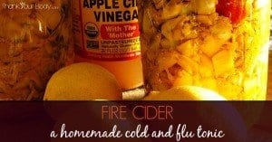 Fire cider is a wonderful homemade tonic to use during cold and flu season!