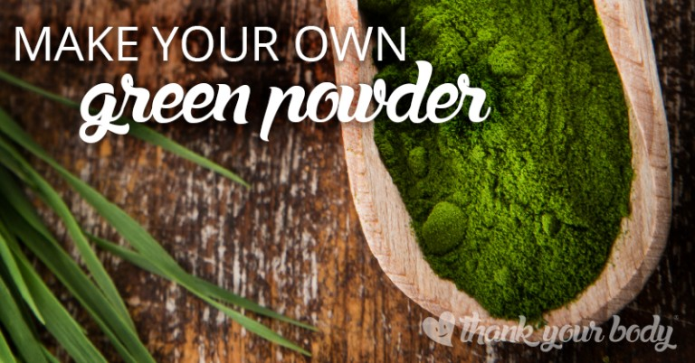 Learn how to make your own organic green powder.