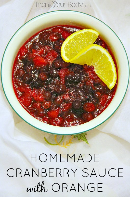 It's easy to make homemade cranberry orange sauce! Try this delicious and healthy recipe for your holiday meal.