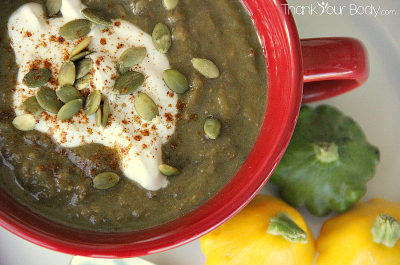 Winter squash and lentil soup...organic, protein-packed lentils, healthy winter squash and savory spices make this soup a must try!