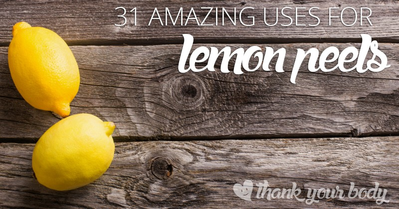 Don't throw your lemon peels away! Here are 31 amazing uses for lemon peels.