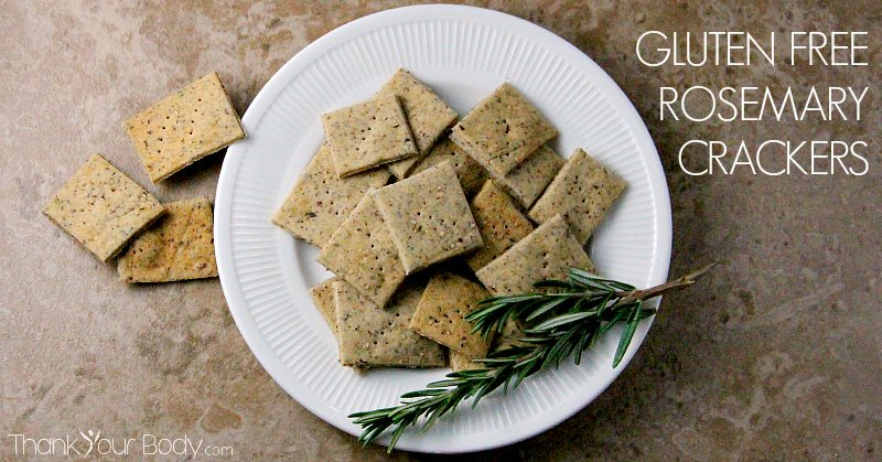 Gluten free rosemary crackers are easy to make and delicous!