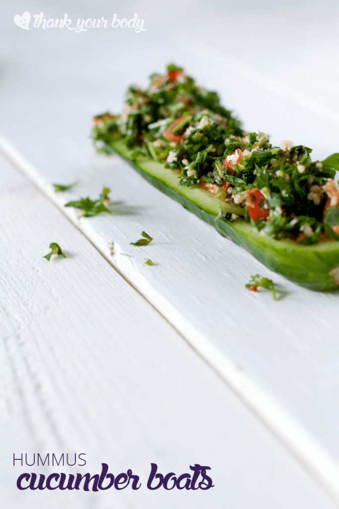 These hummus cucumber boats are as fun as they are delicious!