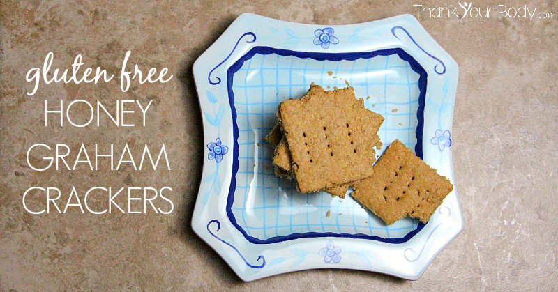 These gluten free graham crackers are easy to make using just oatmeal flour, peanut butter, honey and an egg.
