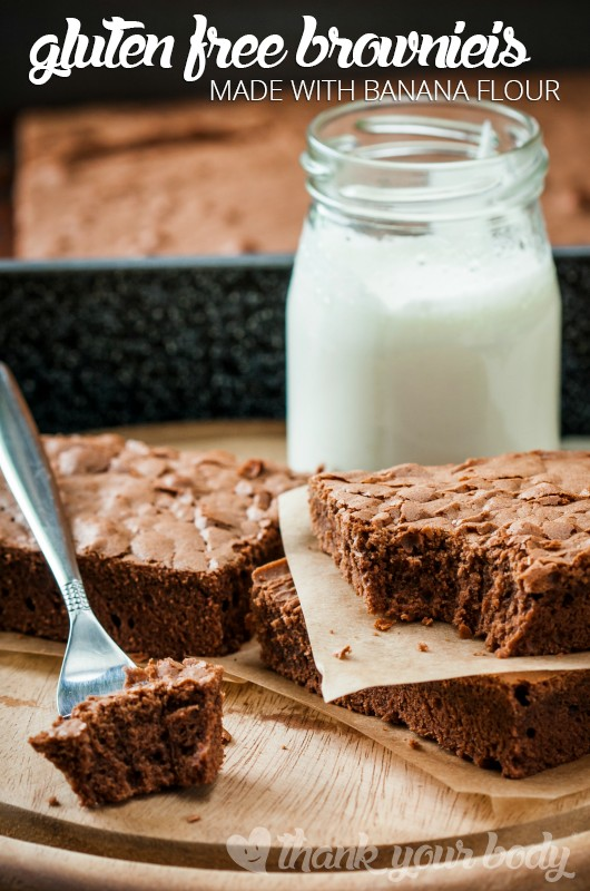 These gluten free brownies are made with banana flour and super delicious!