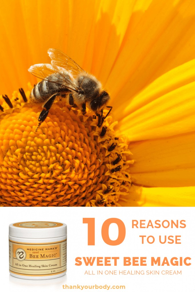 Natural skin care with Sweet Bee Magic All in One Healing Skin Cream! #thankyourbody #naturalskincare #skincare #tyb