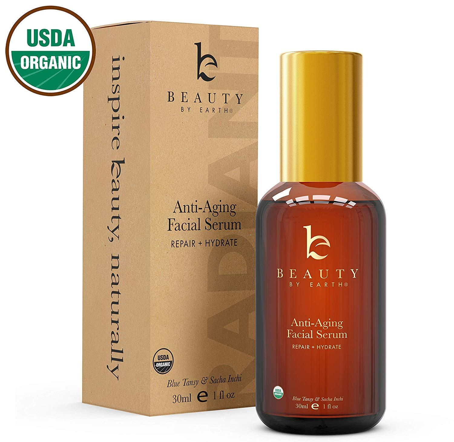 beauty by earth organic face serum