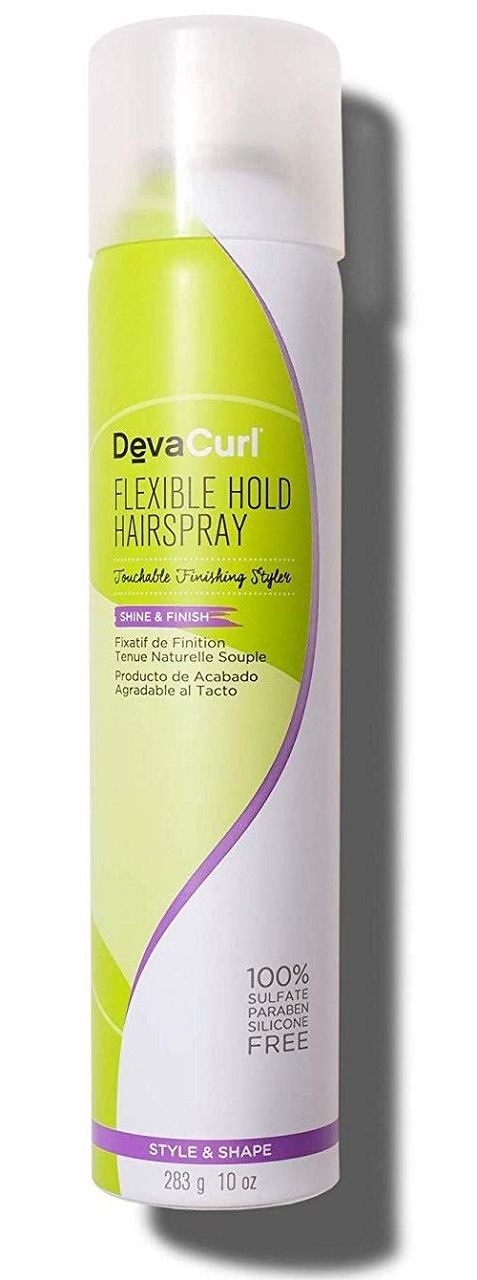 devacurl flexible hold styling hairspray