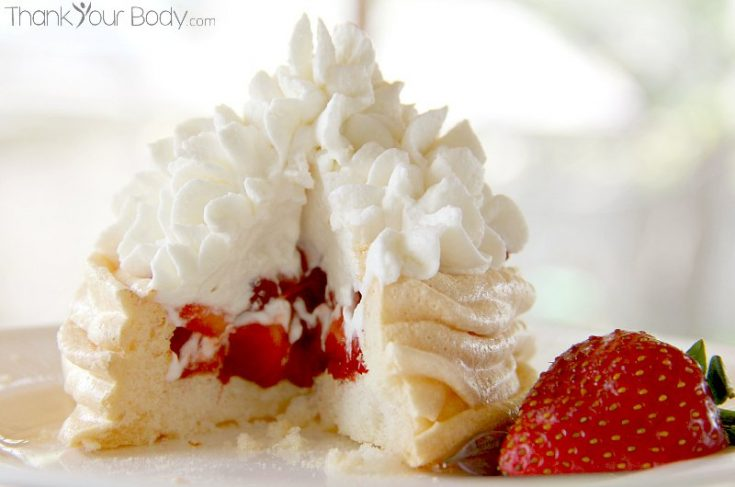 Strawberry Shortcake Meringue Cups