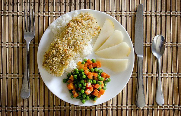 Baked Cod with Breaded Parmesan Crust
